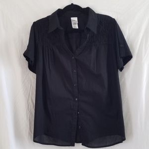 Just my Size black short sleeve blouse size 1X